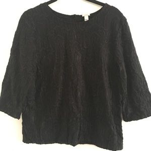 J Crew Small. Lack Jacquard Top